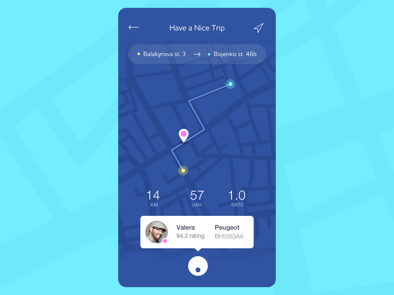 Taxi Map App Solution