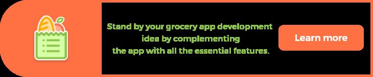 Grocery app Store CTA
