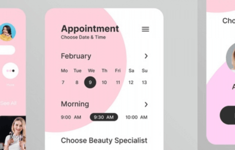 beauty salon appointment booking app
