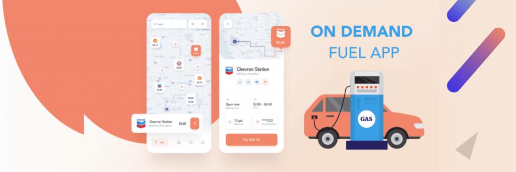 on demand fuel app development