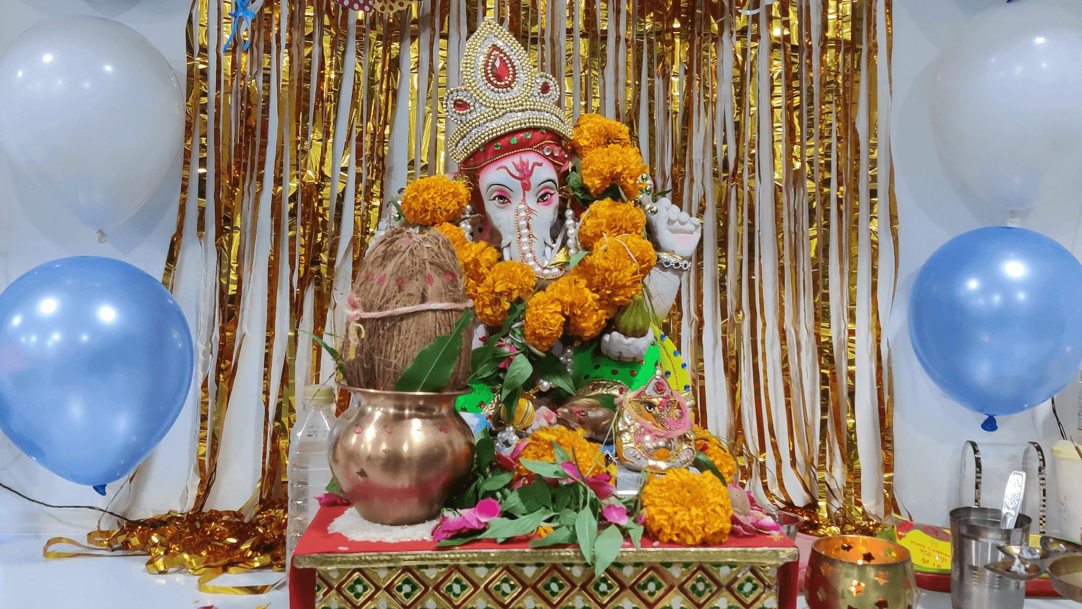 Ganesh puja on 12 Company  anniversary'